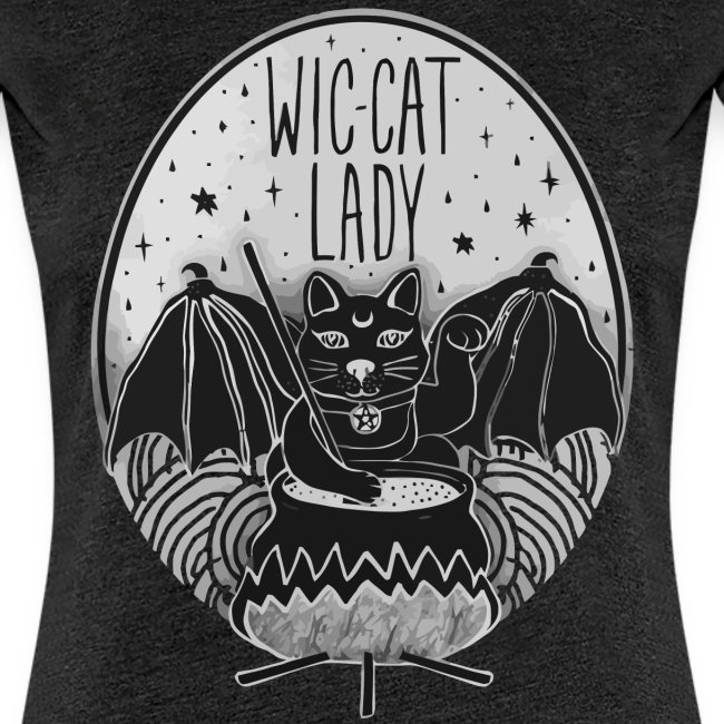 Wic-cat lady halloween shirt