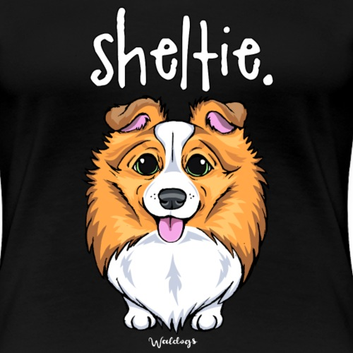 Sheltie Dog Cute 5 - Women's Premium T-Shirt