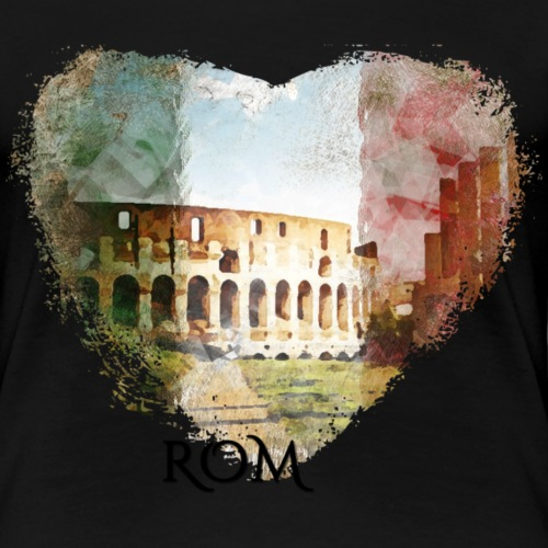 My heART beats for Rom - Frauen Premium T-Shirt