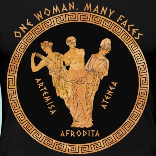 Una sola mujer. Muchas caras. - Camiseta premium mujer