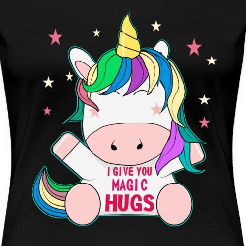 süßes Pferd Freunde sitzen Unicorn Geschenk - Frauen Premium T-Shirt