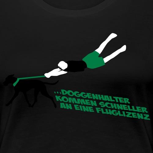 Fluglizenz Doggenhalter - Frauen Premium T-Shirt