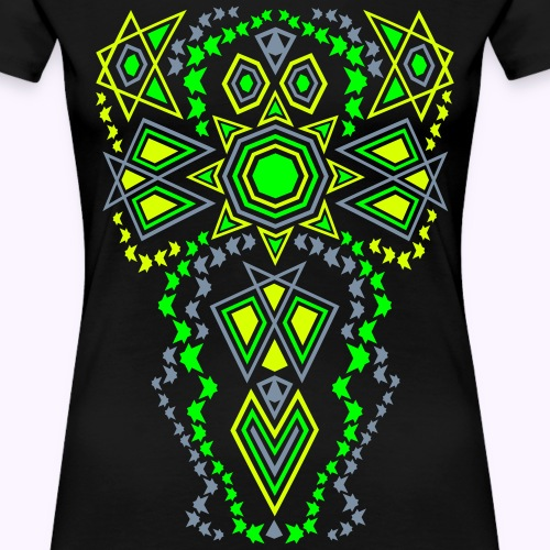 Tribal Sun Neon - Premium-T-shirt dam