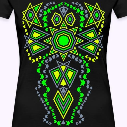 Tribal Sun Neon - Premium T-skjorte for kvinner