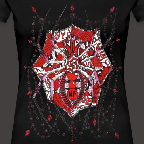 Spider Dentelle Red - T-shirt Premium Femme