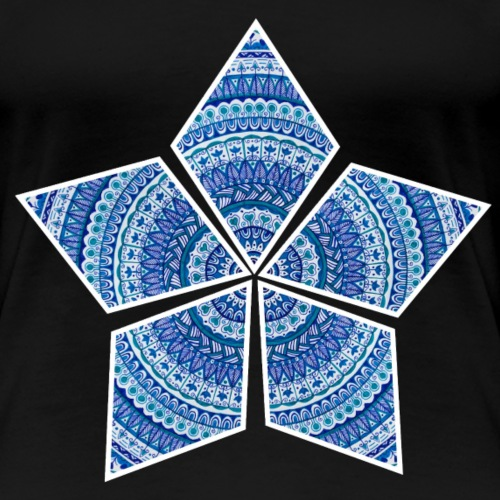 Mandalastern - Frauen Premium T-Shirt