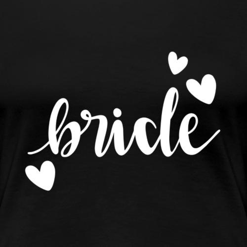 Bride with hearts - Women's Premium T-Shirt
