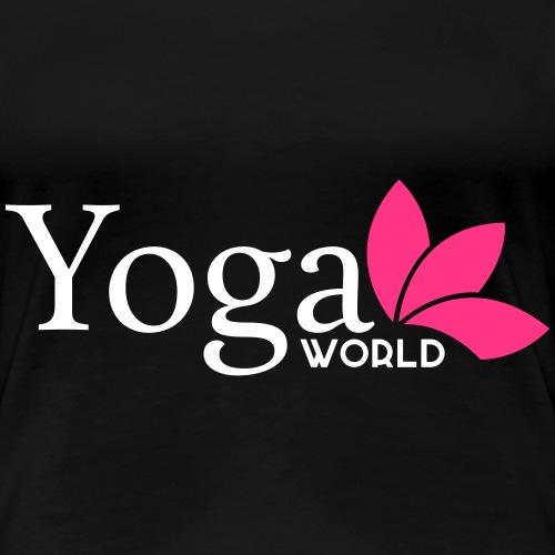 Yoga World 2-färg - Premium-T-shirt dam
