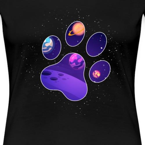 Hund Hunde Pfotenabdruck für Hundebesitzer - Frauen Premium T-Shirt