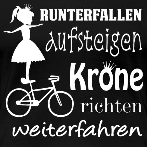 Kunstrad   Krone richten - Frauen Premium T-Shirt