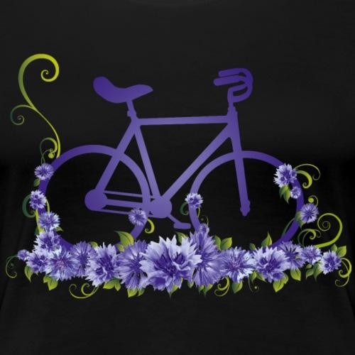 Kunstrad | Flower Power - Frauen Premium T-Shirt