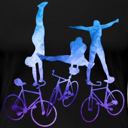 Kunstrad   Artistic Cycling   Balance Blue - Frauen Premium T-Shirt