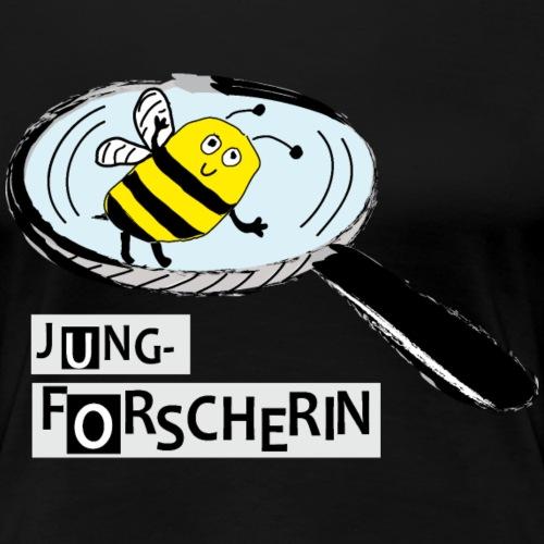 Jungforscherin mit Biene - Frauen Premium T-Shirt