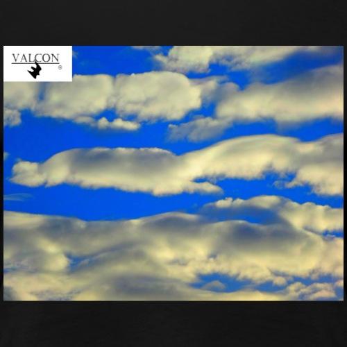 Himmel Blau Watte - Frauen Premium T-Shirt