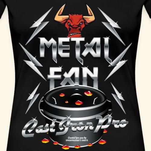 Dutch Oven T Shirt Design Metal Fan - Frauen Premium T-Shirt
