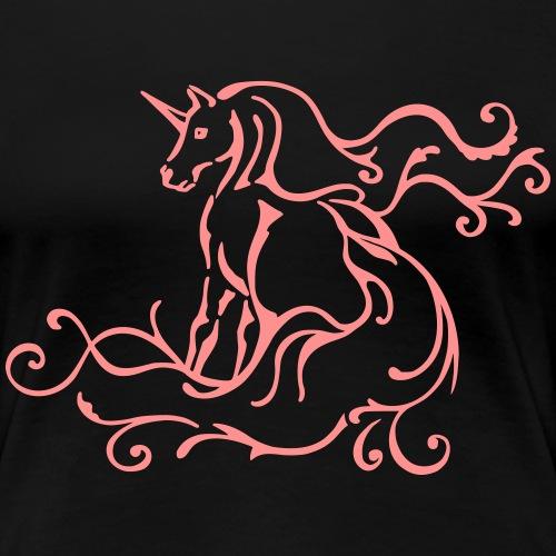 Einhorn - Pferd - Mädchen Geschenk - Frauen Premium T-Shirt