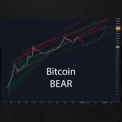 Bitcoin Bear - Frauen Premium T-Shirt