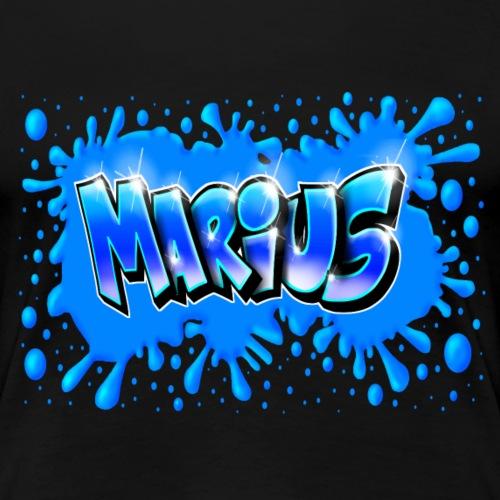 Graffiti Marius Splash - T-shirt Premium Femme