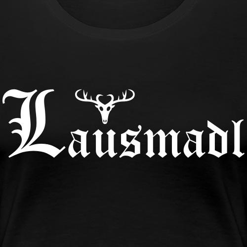 Lausmadl mit Hirsch - Frauen Premium T-Shirt