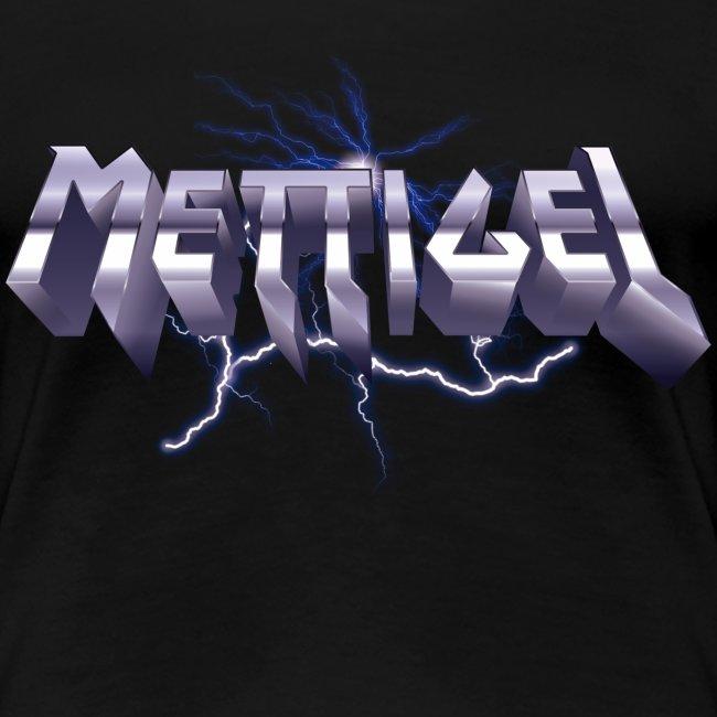 Mettigel T Shirt Design Heavy Metal Schriftzug