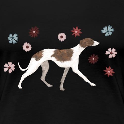 Flower power Whippet - Frauen Premium T-Shirt