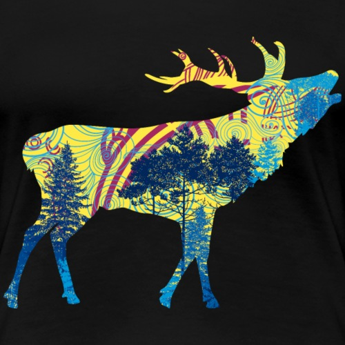 Cerf dans la forêt - T-shirt Premium Femme