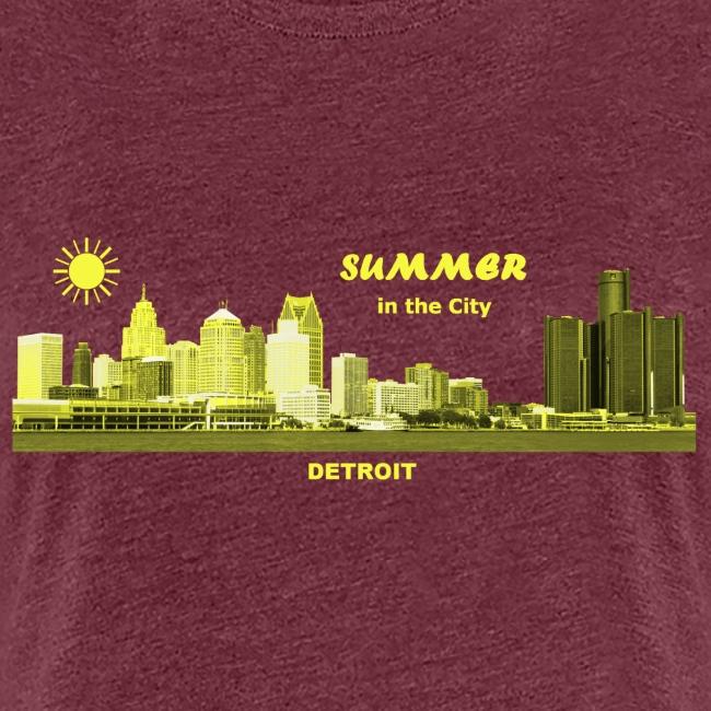 Summer Detroit City Michigan