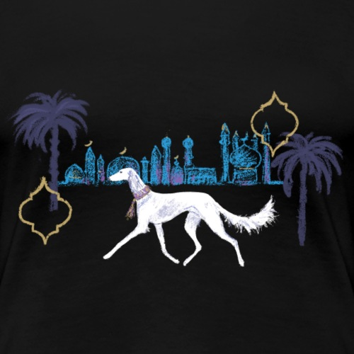 Saluki bei Nacht - Frauen Premium T-Shirt