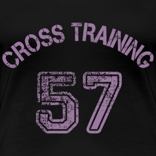 1 - Visuel dos - Cross training 57 - T-shirt Premium Femme