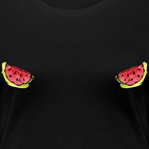 Pastèque cache seins - T-shirt Premium Femme