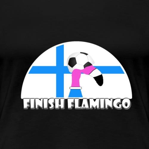 FF Finnischer Flamingo Fußball Fan Shirt Frauen