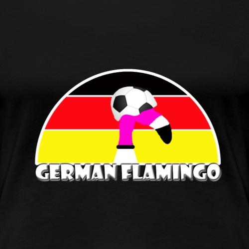 FF Deutscher Fußball Flamingo Fan Shirt Frauen