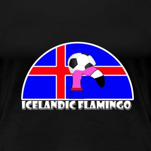 FF Isländischer Fußball Flamingo Fan Shirt