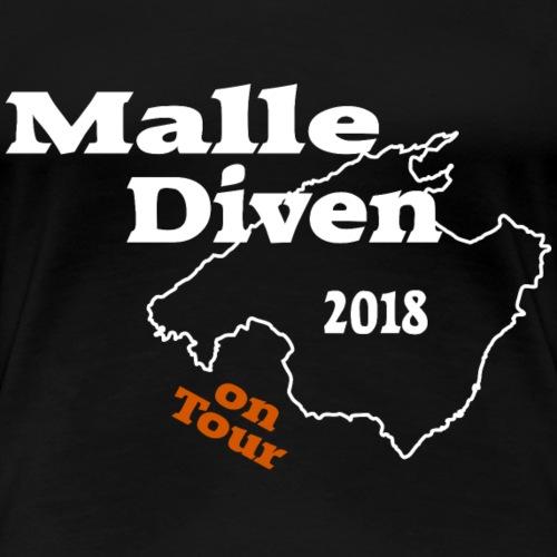 Malle Diven - Frauen Premium T-Shirt