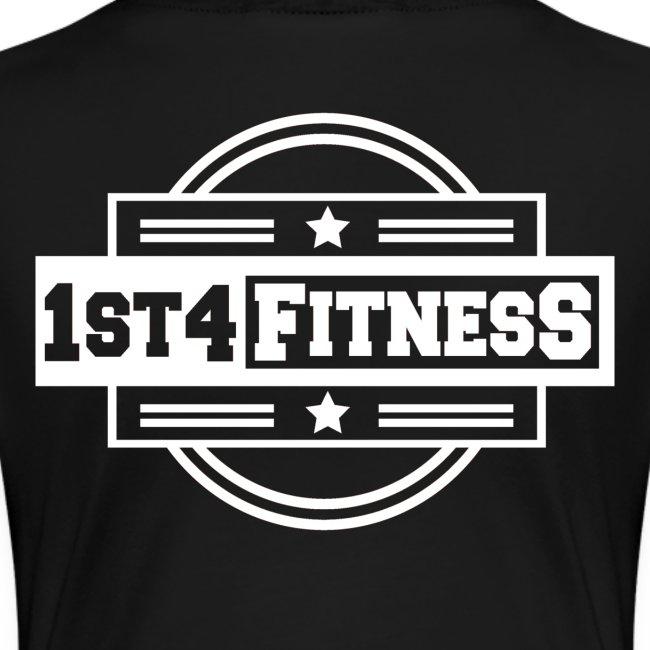 1st4Fitness White Back & Front