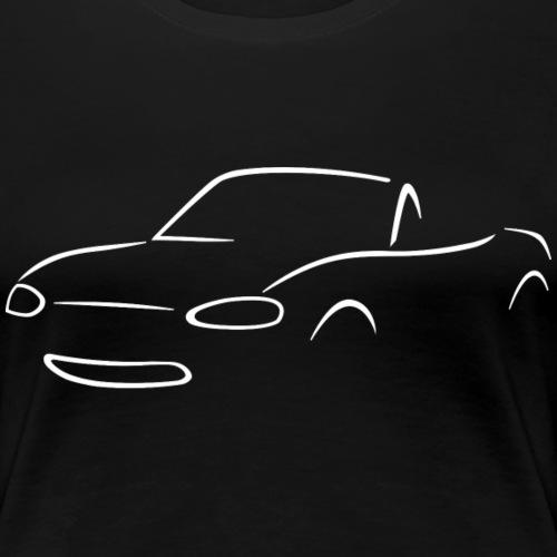 Miata NB Blanche - T-shirt Premium Femme