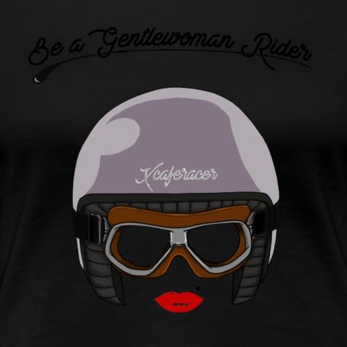 logo gentlewoman black - T-shirt Premium Femme