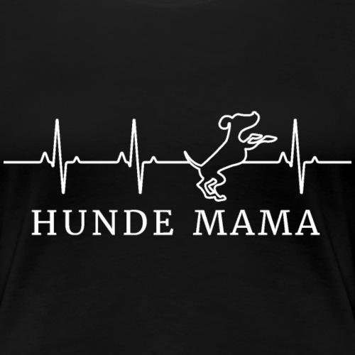 Hunde Mama Herzschlag - Frauen Premium T-Shirt