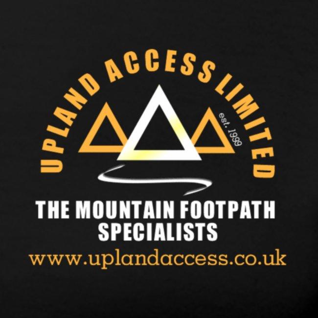 upland access ltd logo gold white