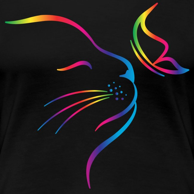 rainbow butterfly cat - Frauen Premium T-Shirt