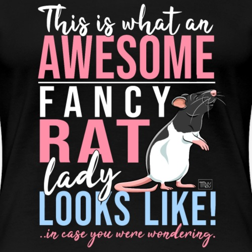 Fancyrat Awesome II - Naisten premium t-paita
