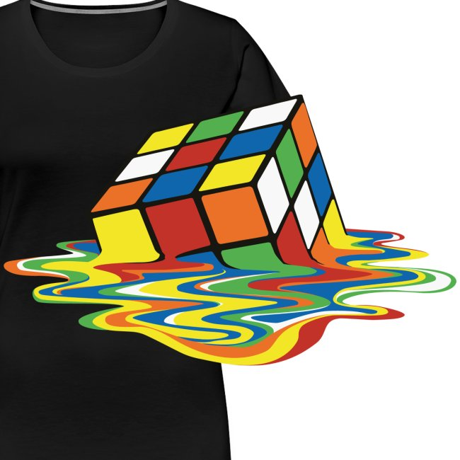 Rubik's Cube Melted Colourful Puddle