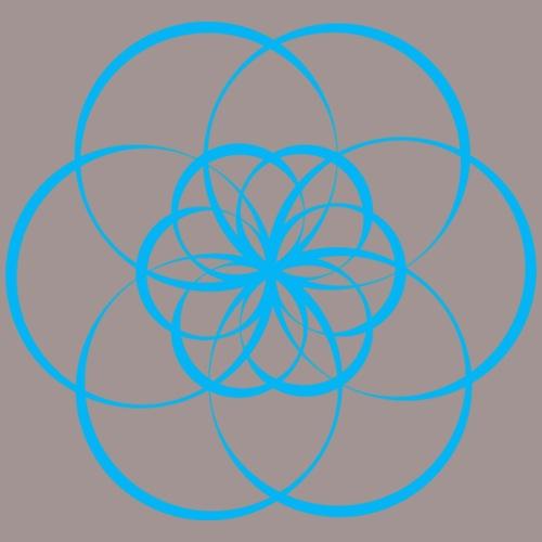 Fleur de vie bleue - Chakra de la gorge - T-shirt Premium Femme