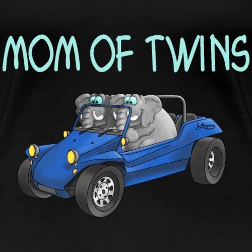 mom of twins - Frauen Premium T-Shirt