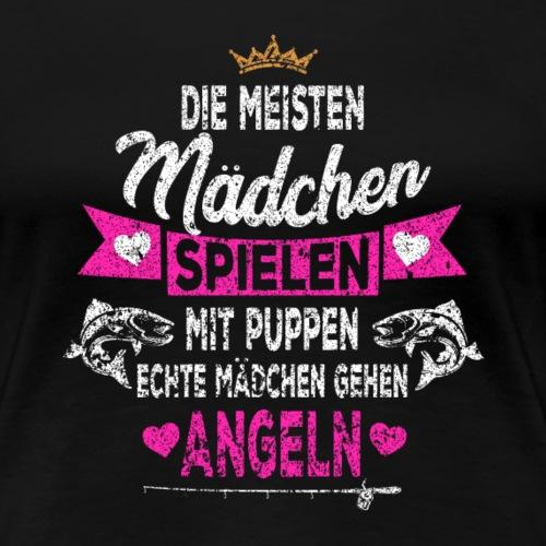 Angler Tochter Angelmädchen - Frauen Premium T-Shirt