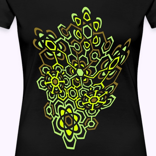LectroMaze Warped - Maglietta Premium da donna