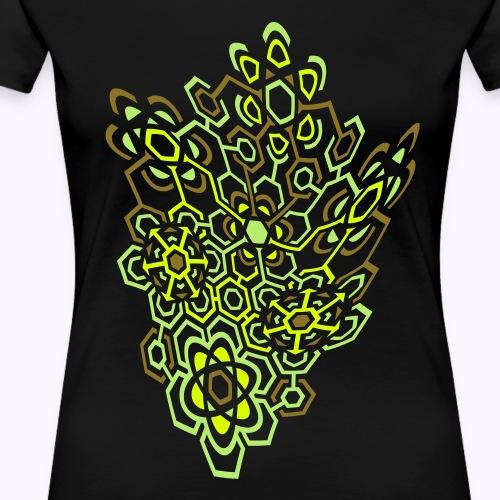 LectroMaze Warped - Premium T-skjorte for kvinner