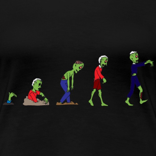 Zombie Evolution - Women's Premium T-Shirt