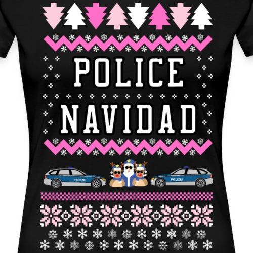 Police Navidad Girls - Frauen Premium T-Shirt