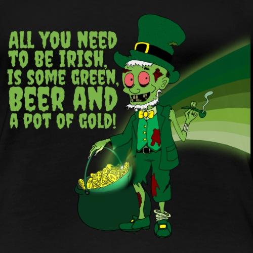 Irish man - Women's Premium T-Shirt